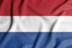 National flag of the Netherlands. The main symbol of an independent country. Flag of Netherlands.
