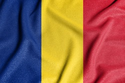 National flag of the Romania. The main symbol of an independent country. Flag of Romania.