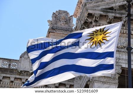 National Flag of Uruguay #523981609