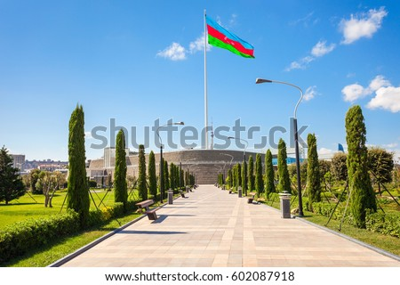 National Flag Square is a large city square off Neftchiler Avenue in Baku, Azerbaijan. A flag measuring 70 by 35 metres flies on a pole 162 m high.