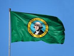 National flag State of Washington on a flagpole