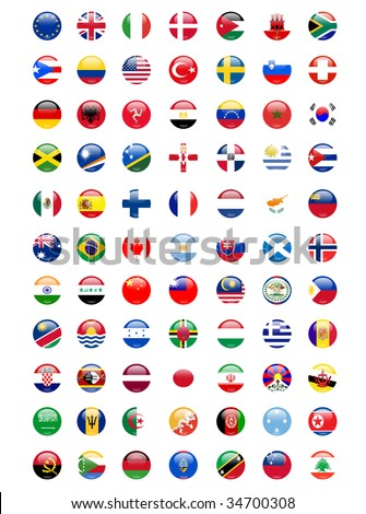 national flags around the world