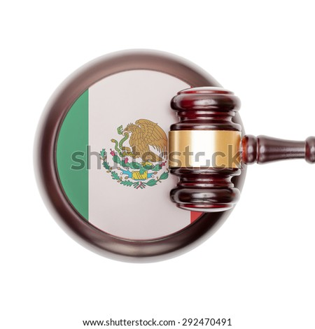 National legal system concept with flag on sound block  - Mexico Foto stock ©