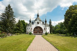 National Monument of Architecture The Cathedral in the St. George Monastery on the Cossack Graves, near Berestechko in Plyasheva, Ukraine.