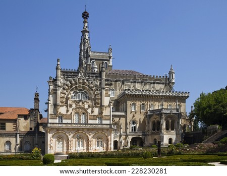 National Palace of Bussaco is an authentic royal fairy tale castle in an enchanted forest
