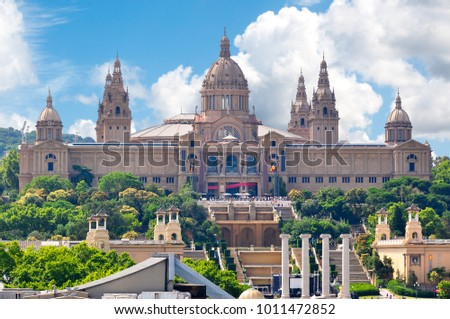 Shutterstock National Palace (Palau Nacional), Barcelona, Spain