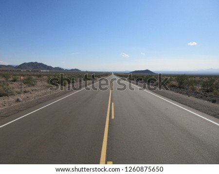 National trails highway near amboy california usa in 2018 #1260875650