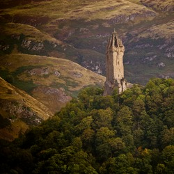 National Wallace Monument on the hill, Stirling, Scotland