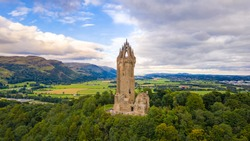 National Wallace Monument on top of the hill Abbey Craig in Stirling, Scotland