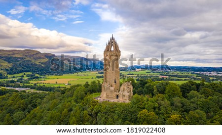 National Wallace Monument on top of the hill Abbey Craig in Stirling, Scotland Stock photo ©