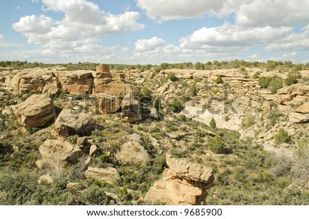 Native American brick ruins #9685900