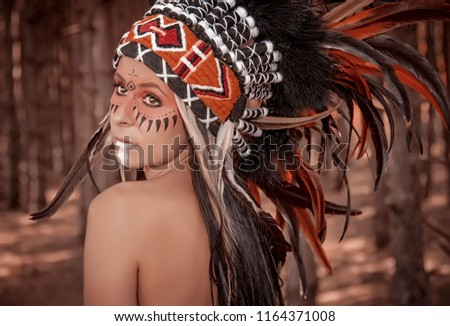 Native American Girl Portrait  #1164371008