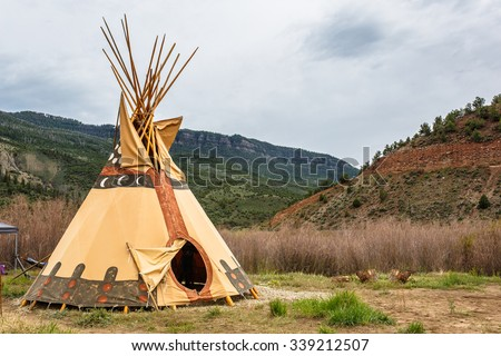 Native American Influenced TeePee Campsite Sits Alone Along the Colorado River