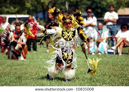 Native Indian boy at Pow Wow
