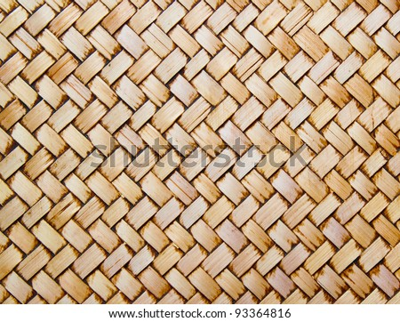 Native Thai style bamboo wall