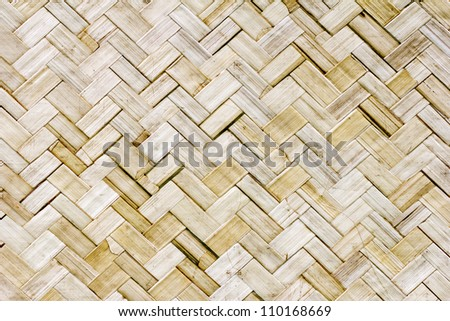 Native Thai style bamboo wall. Bamboo pattern background. Made crafts.
