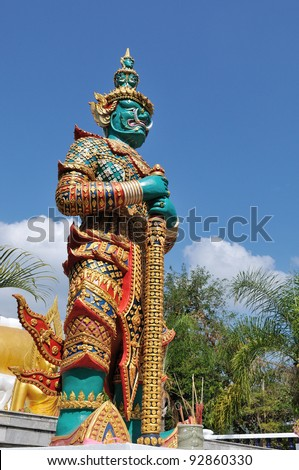 Native Thai style giant statues