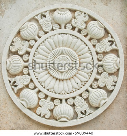 Native Thai style molding art - stock photo