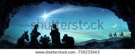 Nativity Of Jesus - Scene With The Holy Family - contains 3d illustrations