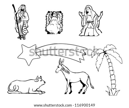 nativity stickers for christmas time