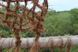 Natural Abaca fiber rope twine