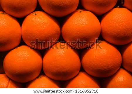 Natural and fresh oranges with beautiful colour