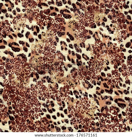 Natural animal print ~ seamless background