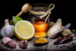 Natural antibiotics vs Coronavirus Covid-19 Garlic Lemon Chili Ginger Curcuma Honey