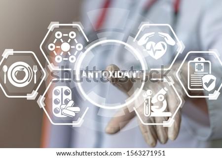 Natural Antioxidants Nutrition Diet Treatment Medical Innovative Concept. Сток-фото ©