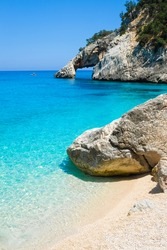 Natural arch on the Goloritze beach, Baunei, Sardinia, Italy