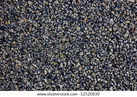 Natural asphalt texture, detailed wet tarmac closeup, rustic background - stock photo