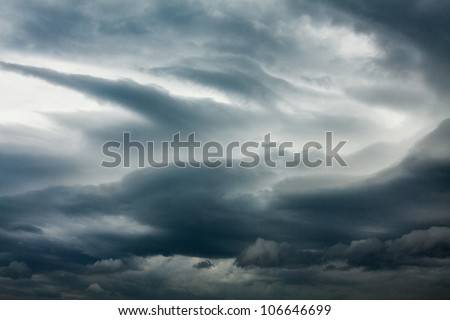 Natural background, a dark stormy sky