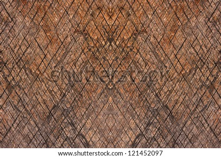 Natural background - dark wooden texture with diagonal pattern.