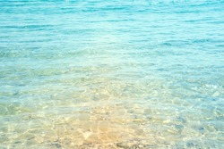 Natural background from clear seawater.