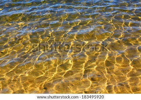 Natural background with pure water in lake.