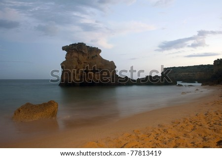 Natural beauty of a beach in Algarve, Portugal
