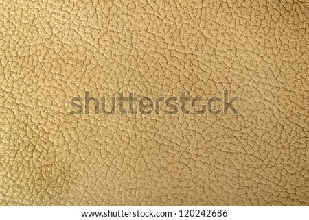 Natural beige leather surface texture  for background
