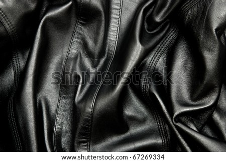Natural black leather texture.