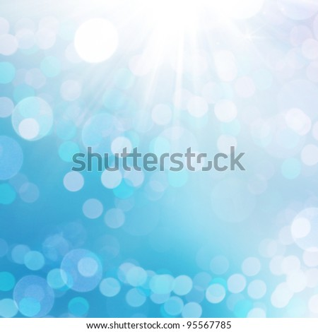 natural blue background with selective focus