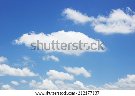 Natural blue sky with cloud closeup or background. - Shutterstock ID 212177137