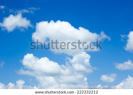 Natural blue sky with cloud closeup or background. - Shutterstock ID 222332212