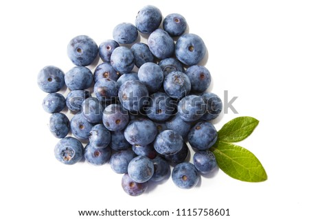 natural blueberries isolated in white background #1115758601