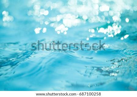 Natural bokeh blue water backgrounds. - Shutterstock ID 687100258