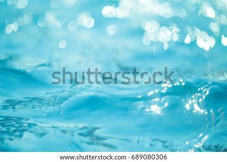 Natural bokeh blue water backgrounds. - Shutterstock ID 689080306