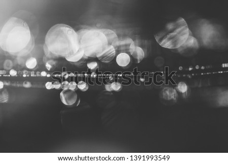 natural bokeh green background with morning spring or summer dew on a cobweb, black and white photography #1391993549