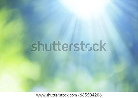 Natural Bokeh with sun rays #665504206