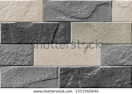 natural brick wallpaper and texture used for wall tile , digital printing wallpaper and floor tile , bathroom tile , kitchen tile