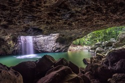 Natural bridge rock formation in Queensland, Australia