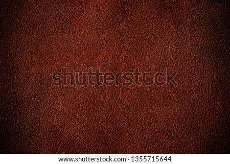 natural brown leather  background. Brown  leather  texture
