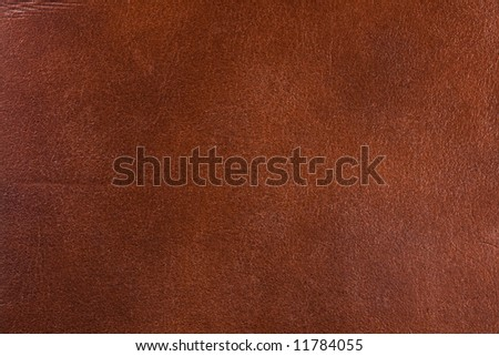 Natural brown leather texture. Close up.